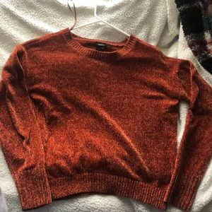 burnt orange super soft sweater